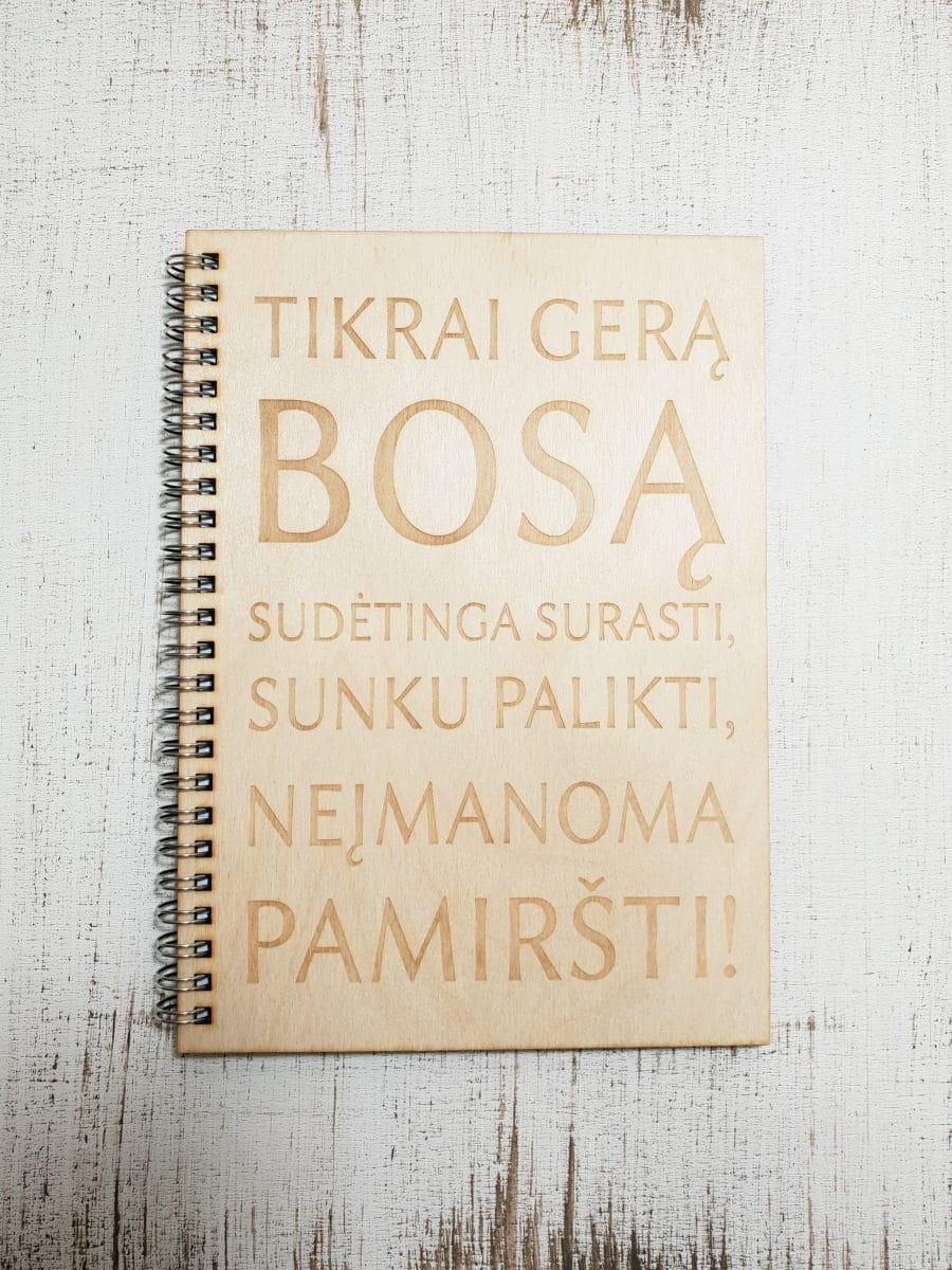 Medinė užrašų knygutė BOSUI