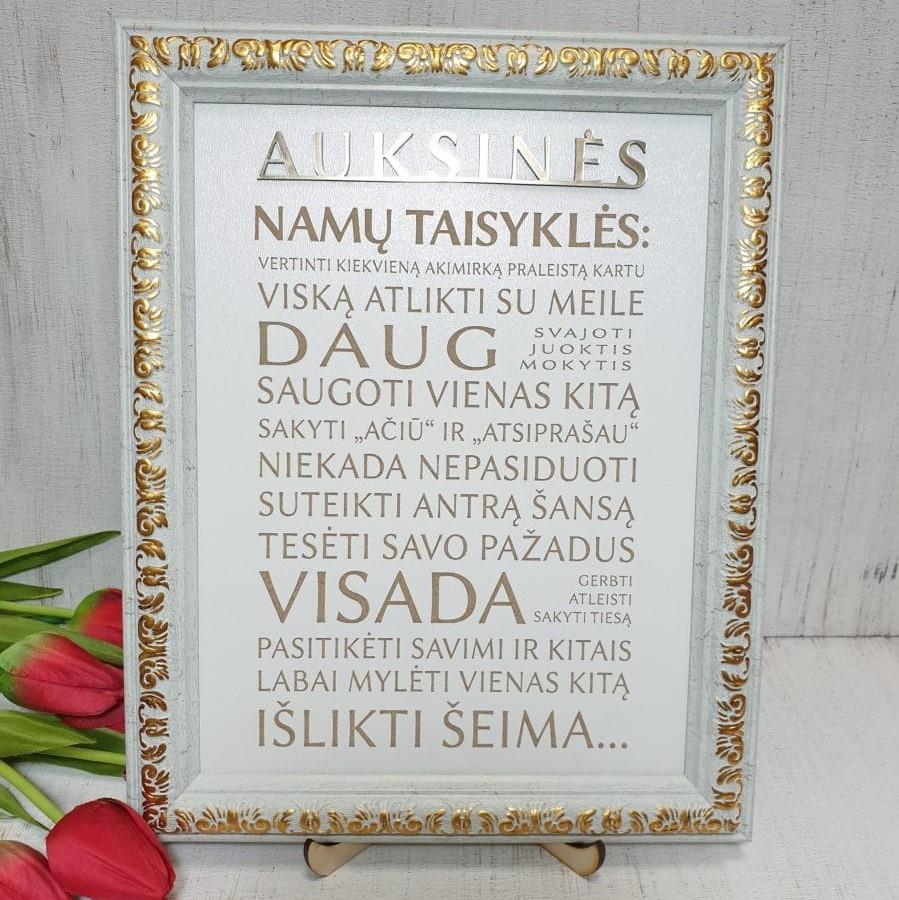Auksinės namų taisyklės