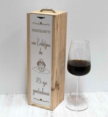 vyno dėžė krikštynų
