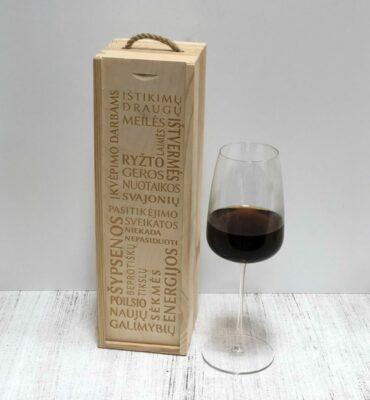 vyno dėžė linkejimai